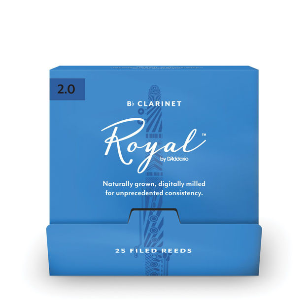 Royal by D'Addario Bb Clarinet Reeds, #2.0, 25-Count Single Reeds