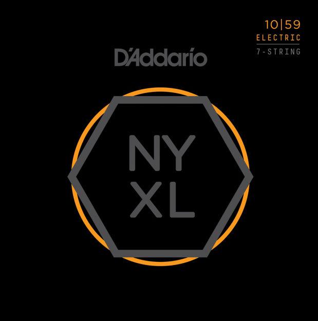 D'Addario NYXL1059 Nickel Wound 7-String Electric Guitar Strings, Regular Light, 10-59