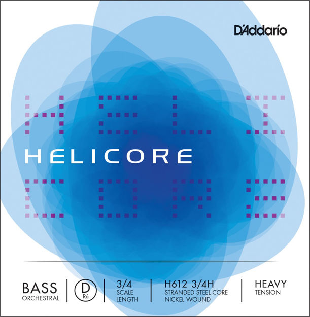 D'Addario Helicore Orchestral Bass Single D String, 3/4 Scale, Heavy Tension