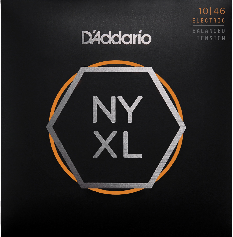 D'Addario NYXL1046BT Nickel Wound Electric Guitar Strings, Balanced Tension, 10-46