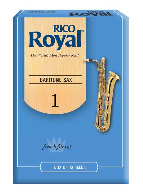 Rico Royal Baritone Sax Reeds, Strength 1.0, 10-pack