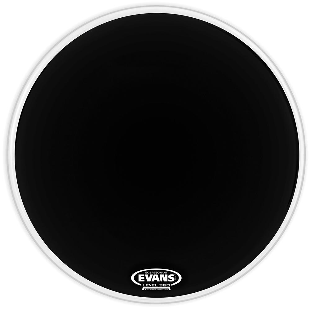 Evans EQ3 Resonant Black Tom Hoop Drum Head, No Port, 16 Inch