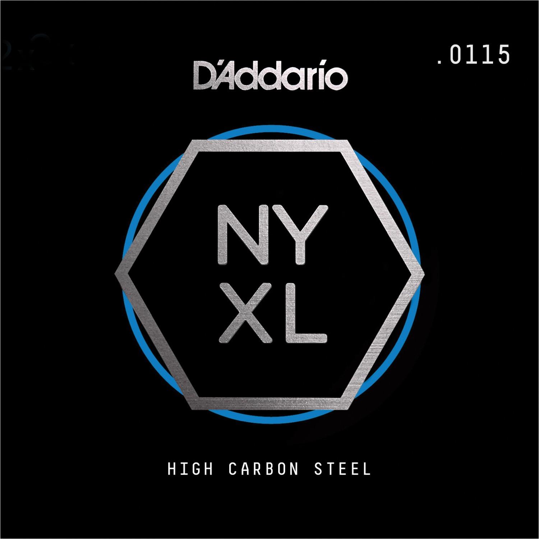 D'Addario NYS0115 Single Plain Steel Guitar String, .0115