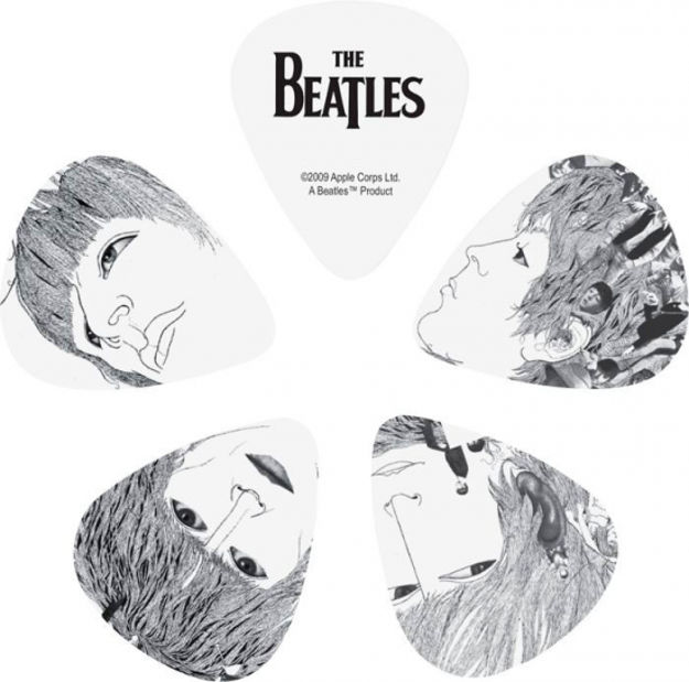 D'Addario Beatles Guitar Picks, Revolver, 10 pack, Thin