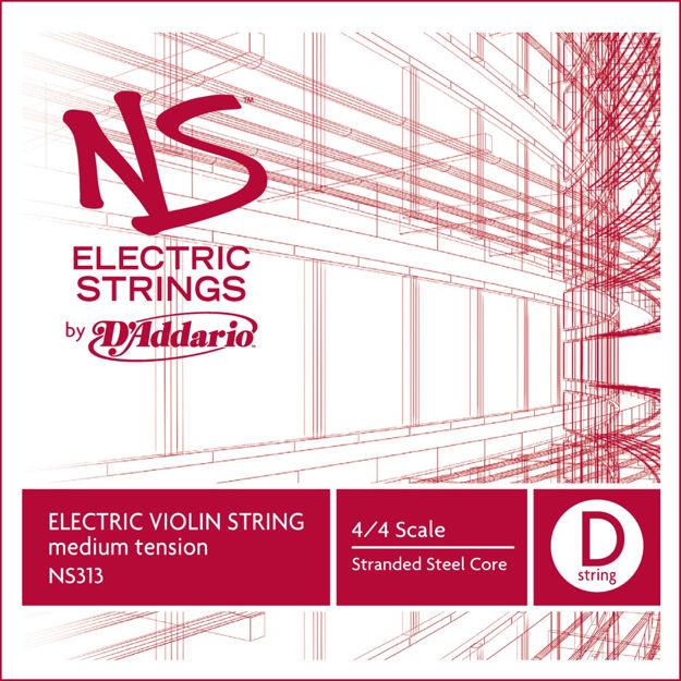 D'Addario NS Electric Violin Single D String, 4/4 Scale, Medium Tension