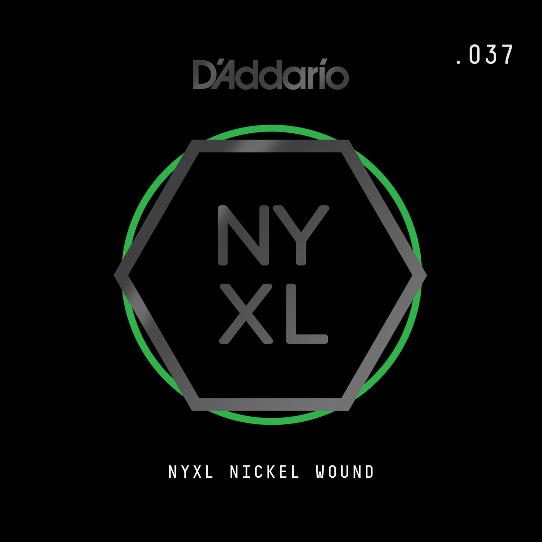 D'Addario NYNW037 NYXL Nickel Wound Electric Guitar Single String, .037