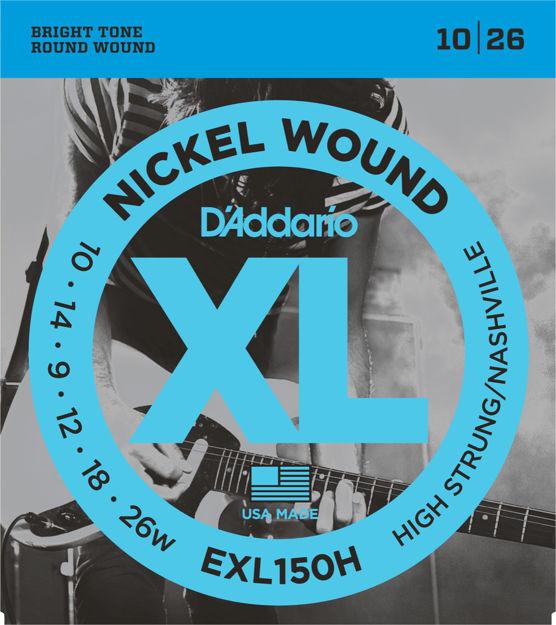 D'Addario EXL150H Nickel Wound Electric Guitar Strings, High-Strung/Nashville Tuning, 10-26