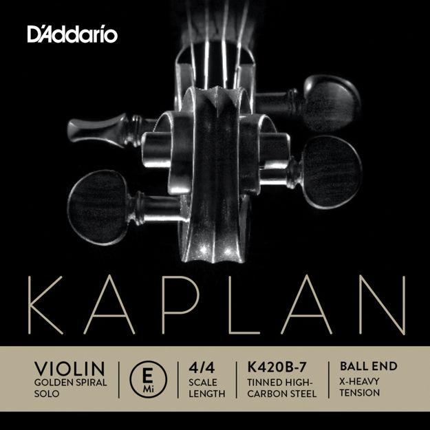 D'Addario Kaplan Ball End Violin Single E String, 4/4 Scale, Extra-Heavy Tension