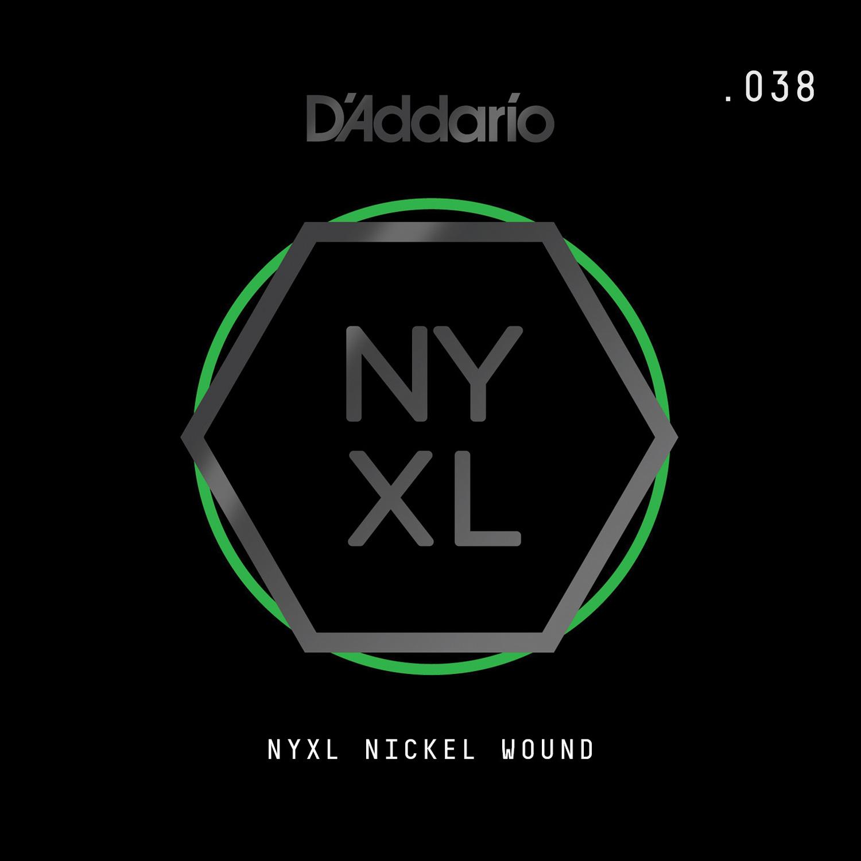 D'Addario NYNW038 NYXL Nickel Wound Electric Guitar Single String, .038