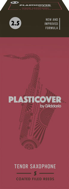 Plasticover by D'Addario Tenor Sax Reeds, Strength 2.5, 5-pack