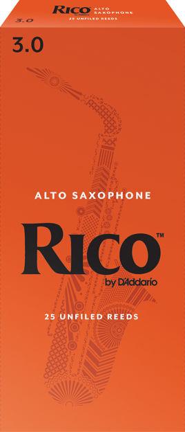 Rico by D'Addario Alto Sax Reeds, Strength 3, 25-pack
