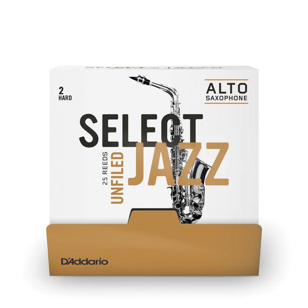Select Jazz - Alto Saxophone Reeds - Unfiled -  2 Hard - 25 Box