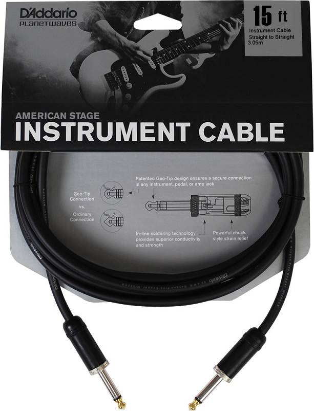 D'Addario American Stage Instrument Cable, 15 feet