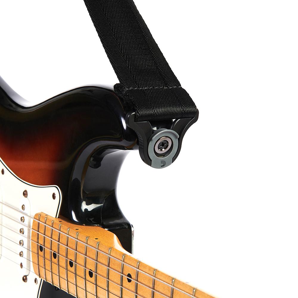 D'Addario Auto Lock Guitar Strap - Moss