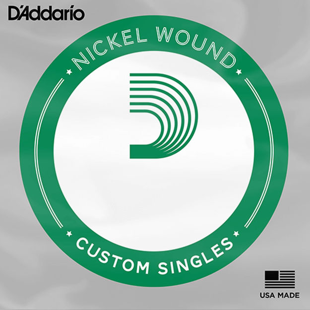 D'Addario XB080M Nickel Wound Bass Guitar Single String, Medium Scale, .080