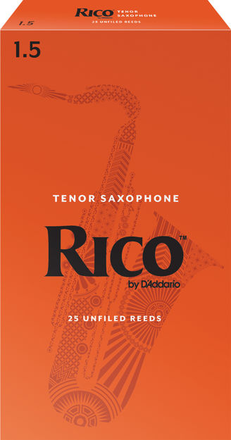 Rico by D'Addario Tenor Sax Reeds, Strength 1.5, 25-pack