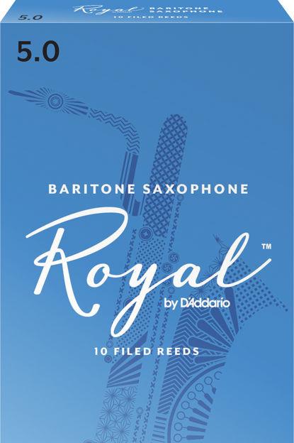 Royal by D'Addario Baritone Sax Reeds, Strength 5, 10-pack