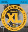 D'Addario EXL110+ Nickel Wound Electric Guitar Strings, Regular Light Plus, 10.5-48