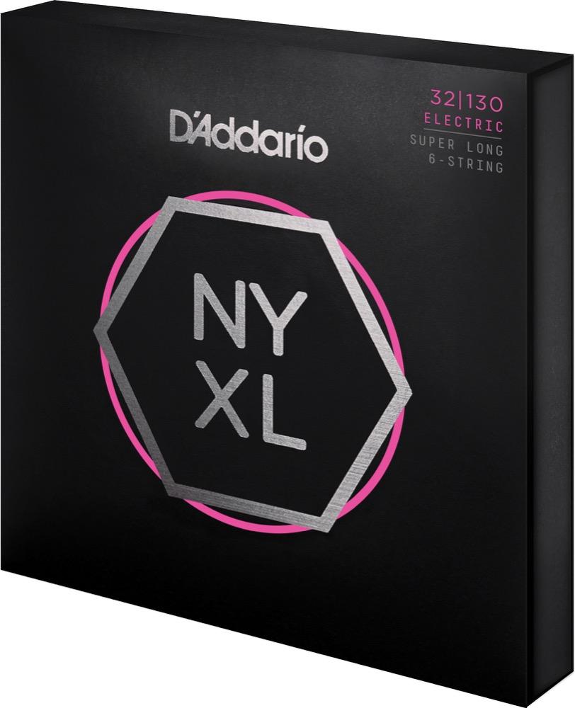 D'Addario NYXL32130SL Nickel Wound Bass Guitar Strings, Regular Light 6-String, 32-130, Super Long Scale