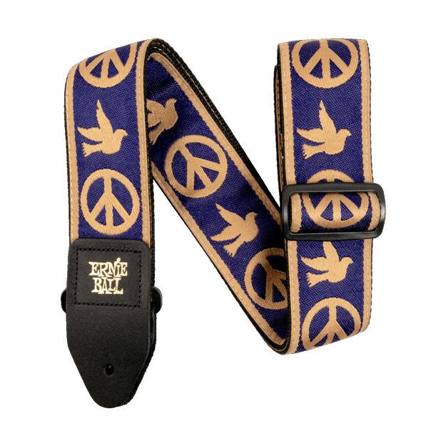 Ernie Ball EB-4699 Peace Love Dove Strap, Beige & Blue