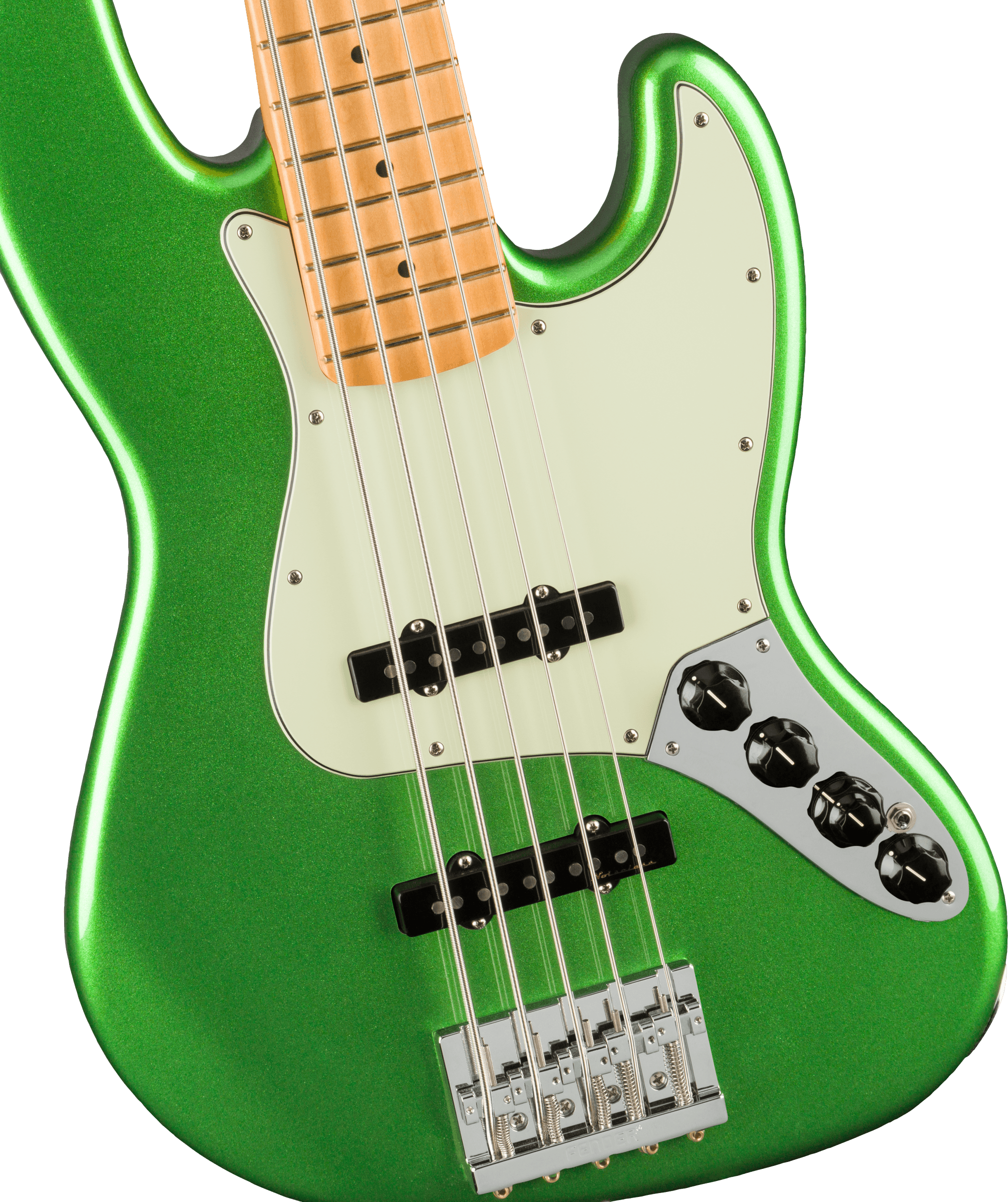 Fender Player Plus Jazz Bass V, Maple Fingerboard, Cosmic Jade