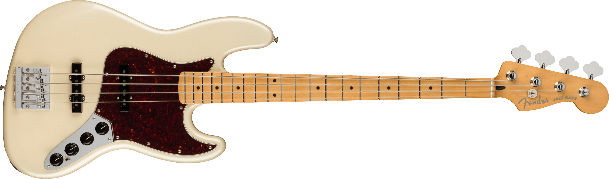 Fender Player Plus Jazz Bass, Maple Fingerboard, Olympic Pearl