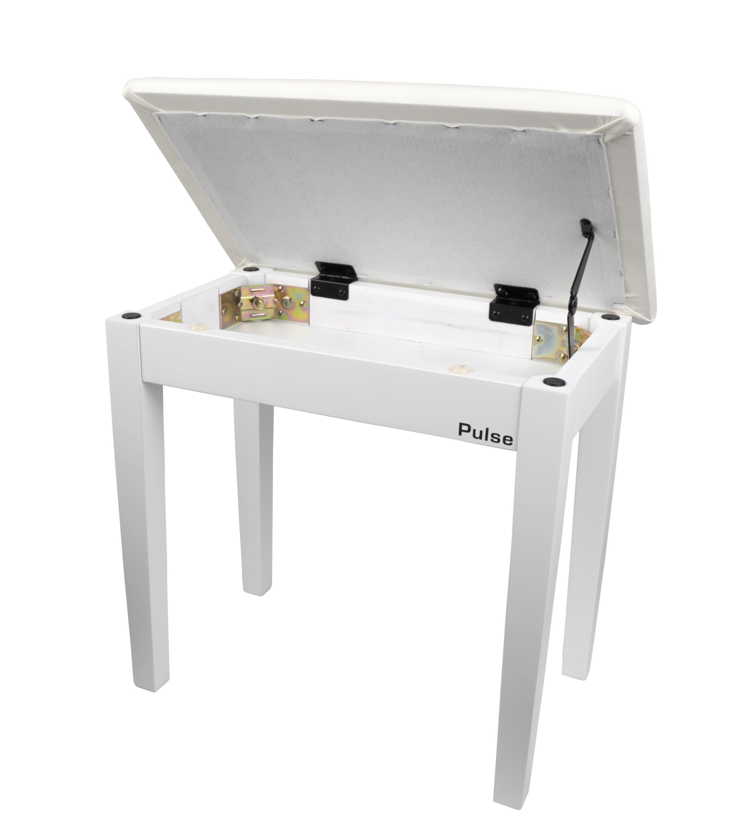 Pulse Pianobenk, hvit matt