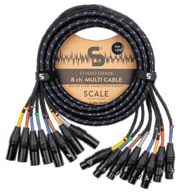 Scale Technologies Studio Grade  SG8-FM-0500, 8 x XLRf - XLRm
