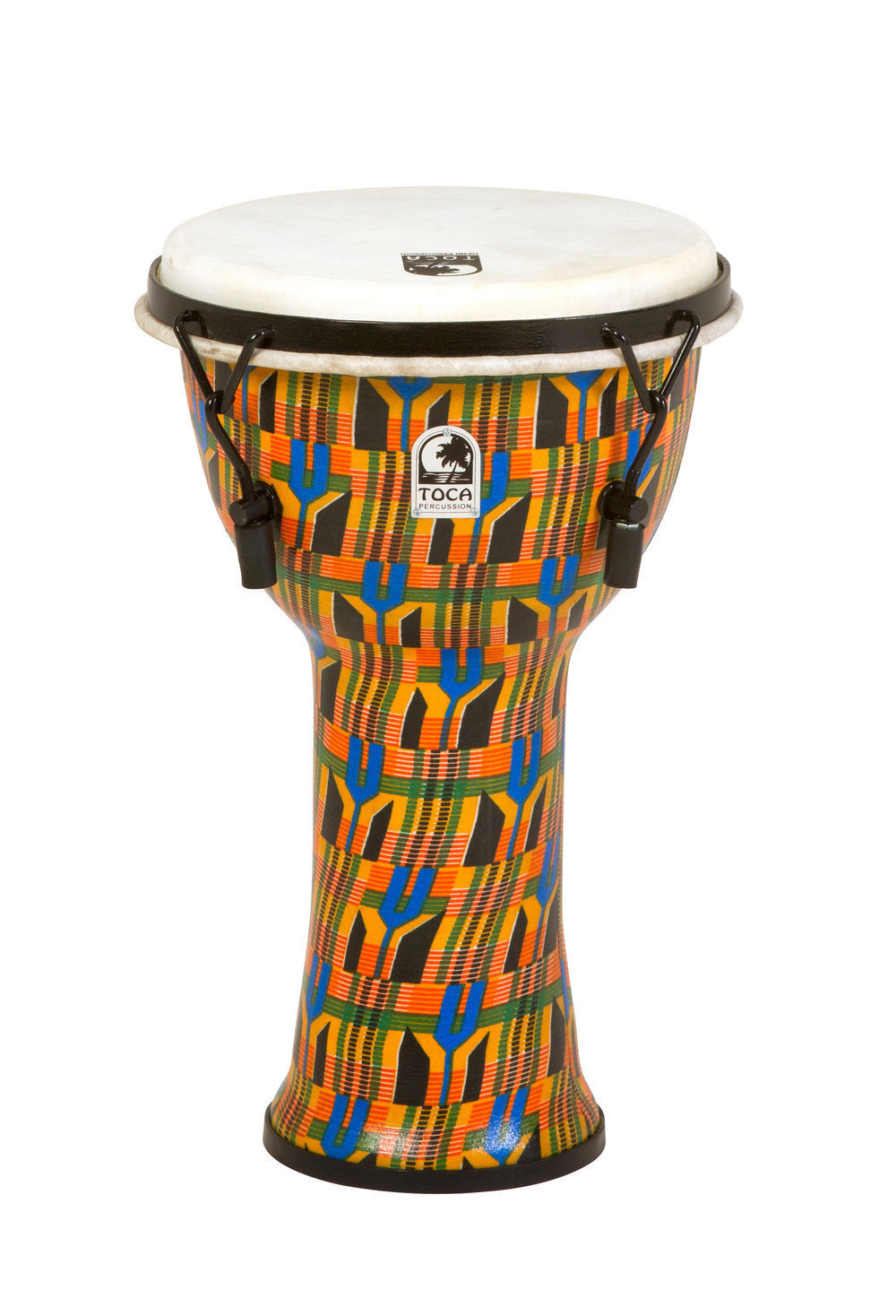 Toca Djembe Freestyle Mechanically Tuned Antique Silver - SFDMX-9AS