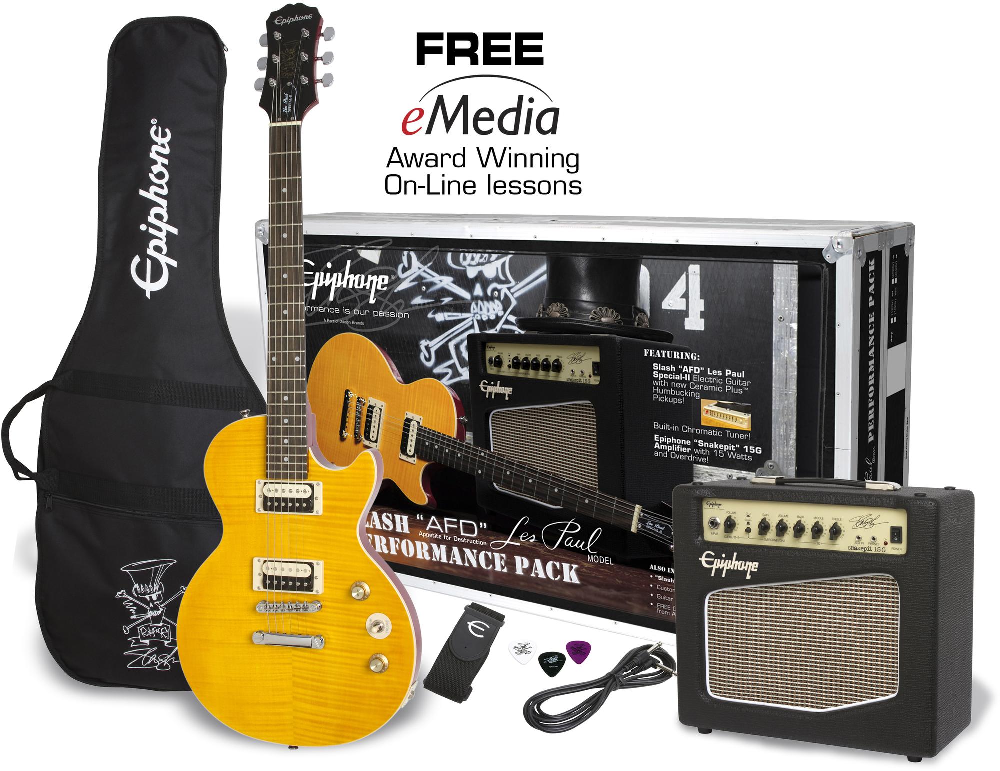 """Epiphone Slash """"AFD"""" Pack - Slash AFD LP Performance Pack"""