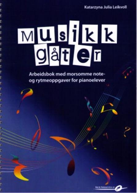 Musikkgåter - Arbeidsbok med morsomme note- og rytmeoppgaver - Katarzyna Julia Leikvoll