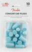 Fender Concert Ear Plugs (10 Pair), Daphne Blue