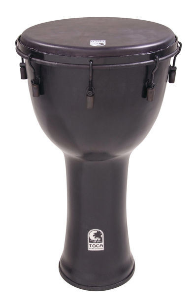Toca Djembe Freestyle Mechanically Tuned Antique Silver - SFDMX-14ASB